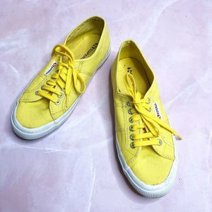Superga Classic Yellow Canvas Sneakers size 41